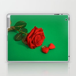 Surrealistic Rose with Hearts Laptop & iPad Skin