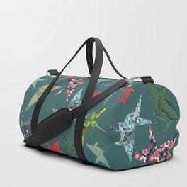 Washi Origami Cranes Duffle Bag