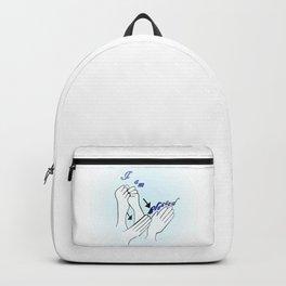 ASL I Am Blessed Backpack
