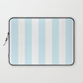 Water heavenly - solid color - white vertical lines pattern Laptop Sleeve