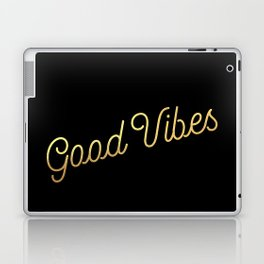 Good Vibes - Black and gold Laptop & iPad Skin