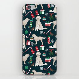 Golden Doodle unique christmas gifts for dog person dog breed pet portraits by pet friendly iPhone Skin