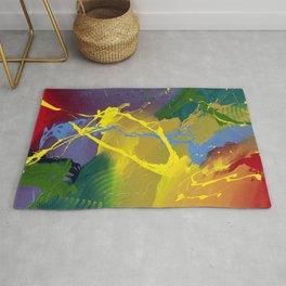 Uprising - Colorful Abstract art prints Rug
