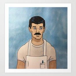 Sterling Archer as Bob Belcher Art Print