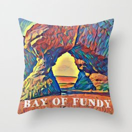 Bay of Fundy New Brunswick Canada at Low Tide Throw Pillow