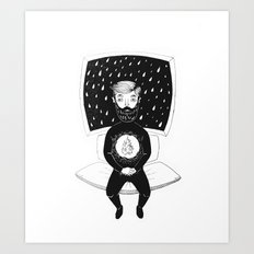 burning man Art Print