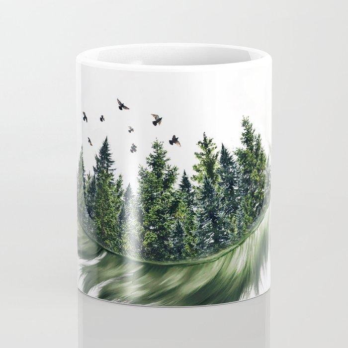 Earth Feather • Green Feather (horizontal) Coffee Mug