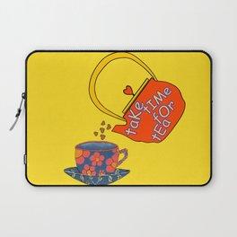 Take Time For Tea Laptop Sleeve