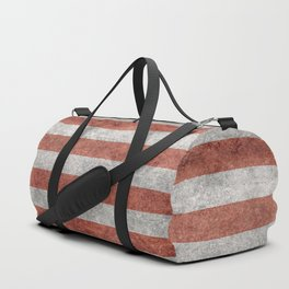 Flag of the United States of America - Vintage Retro Distressed Textured version Duffle Bag