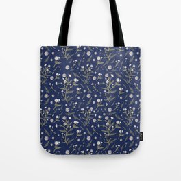 Chamomile Herb - Blue Tote Bag