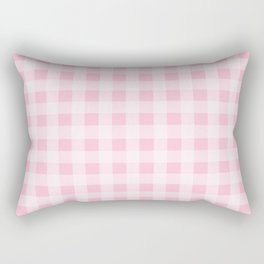 Pretty Pink Gingham Pattern Rectangular Pillow