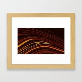 Spilled Coffee Framed Art Print
