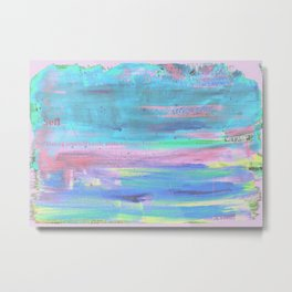 Paint faded text pink Metal Print