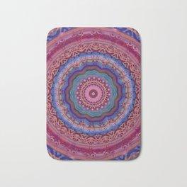 Colorful Agate Mandala Bath Mat