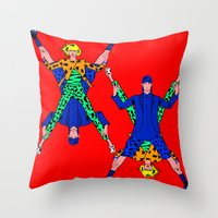 kenzo Throw Pillows featuring Kenzo Pop Art by Alli Vanes