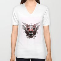 beast V-neck T-shirts featuring Beast by WES EXOTIC IMAGERY
