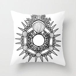 Sea Crown Mandala Throw Pillow