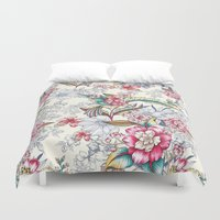 gemma correll Duvet Covers featuring Bird of Paradise by Gemma Hodgson Design