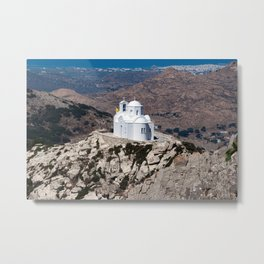 Lonely church in Greek mountains Metal Print