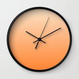 Vanilla to Orange Color Gradient Wall Clock