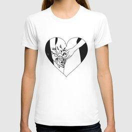 flower heart T-shirt