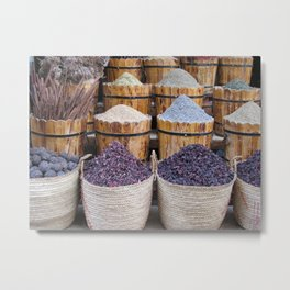 Souq No. 2: Spices in Aswan, Egypt (2005) Metal Print