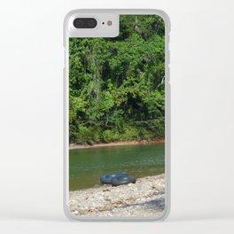 En el medio de nada Clear iPhone Case