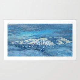 Khibiny Mountains, Winter Landscape Painting Modern Impressionism Art Print