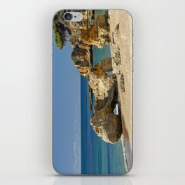 rock formation on Olhos d'Agua beach, Portugal iPhone Skin