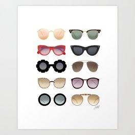 Ray Bans Sunglasses Illustration Art Print