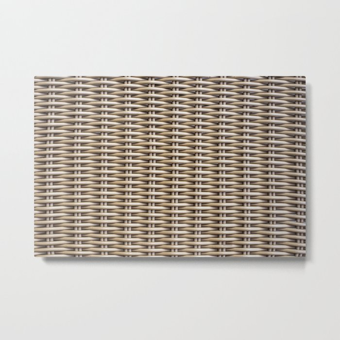 Closeup rattan wickerwork texture Metal Print