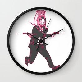John Wick Keanu Reeves Wall Clock