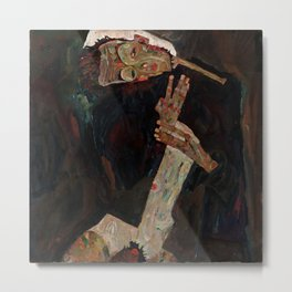 "Egon Schiele ""The Lyricist"" Metal Print"
