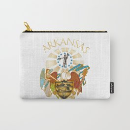 Arkansas seal Carry-All Pouch