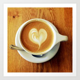 A Warm Cup of Love Art Print
