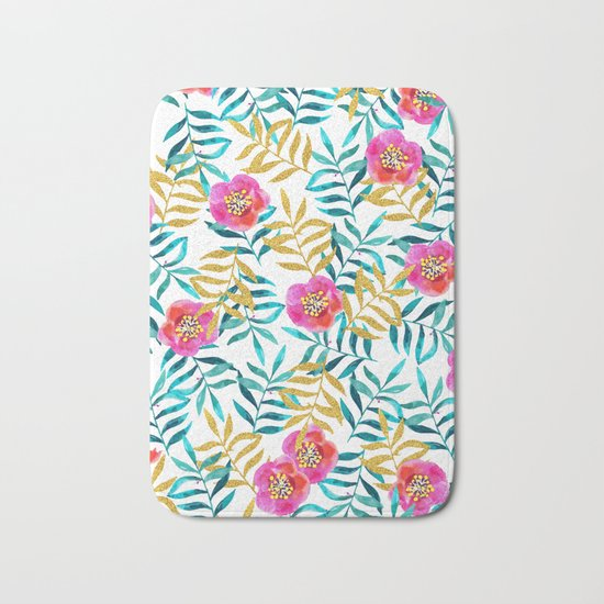 Floral Sweetness #society6 #decor #buyart Bath Mat