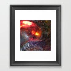 Flaming Seashell 5 Framed Art Print