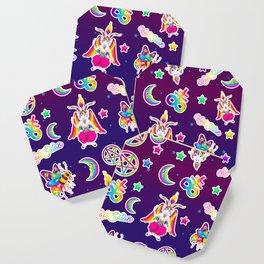1997 Neon Rainbow Occult Sticker Collection Coaster
