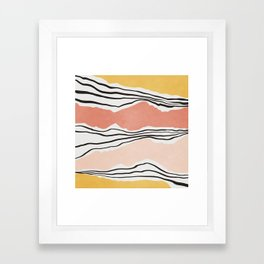 Modern irregular Stripes 01 Framed Art Print