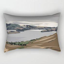 Cass Bay, New Zealand Rectangular Pillow