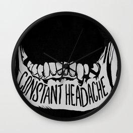 Constant Headache Wall Clock