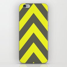 Chevrons warning sign iPhone & iPod Skin