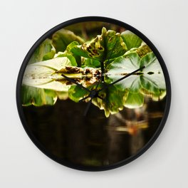 Lily Pad Photography Print Wall Clock