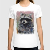 raccoon T-shirts featuring Raccoon by Michael Creese