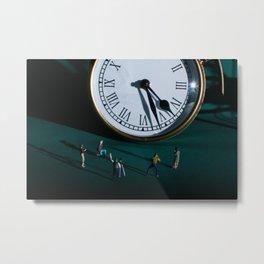 The Clock Watchers Metal Print