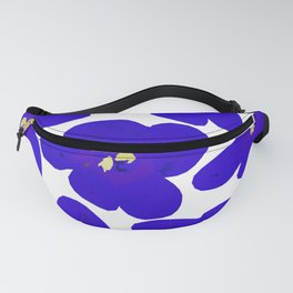 Blue Retro Flowers #decor #society6 #buyart Fanny Pack