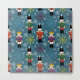 Snowy Royal Nutcrackers Metal Print