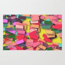 pink colored bricks Rug