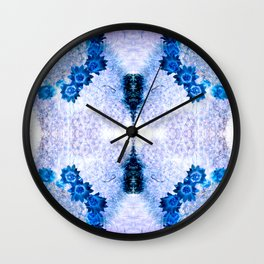 Crowning Flowers Wall Clock