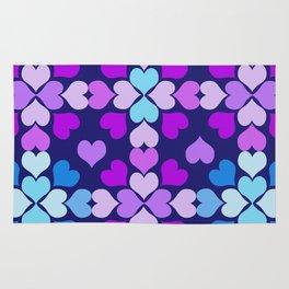 Ultra-Violet Heart Quilt Rug